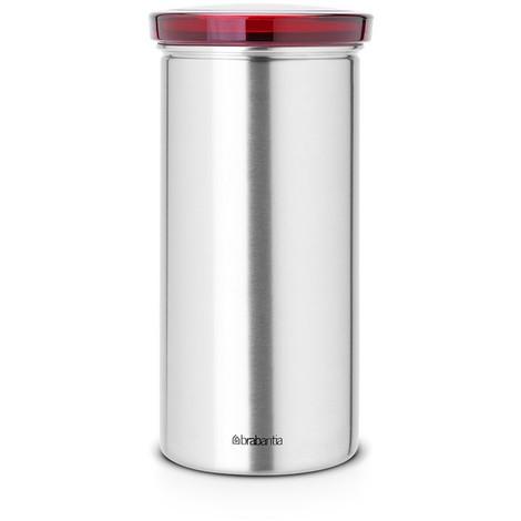 Brabantia Boîte pour dosettes de café et sachets de thé, capacité 18 pièces - Red / Matt Steel Fingerprint Proof