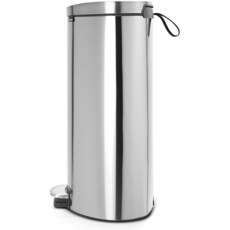 Brabantia Mülleimer FlatBack+ Treteimer 40L mit Kunststoffeinsatz-White