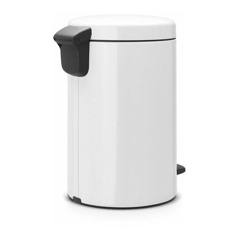 poubelle à pédale 12l blanc - 111969 - Brabantia