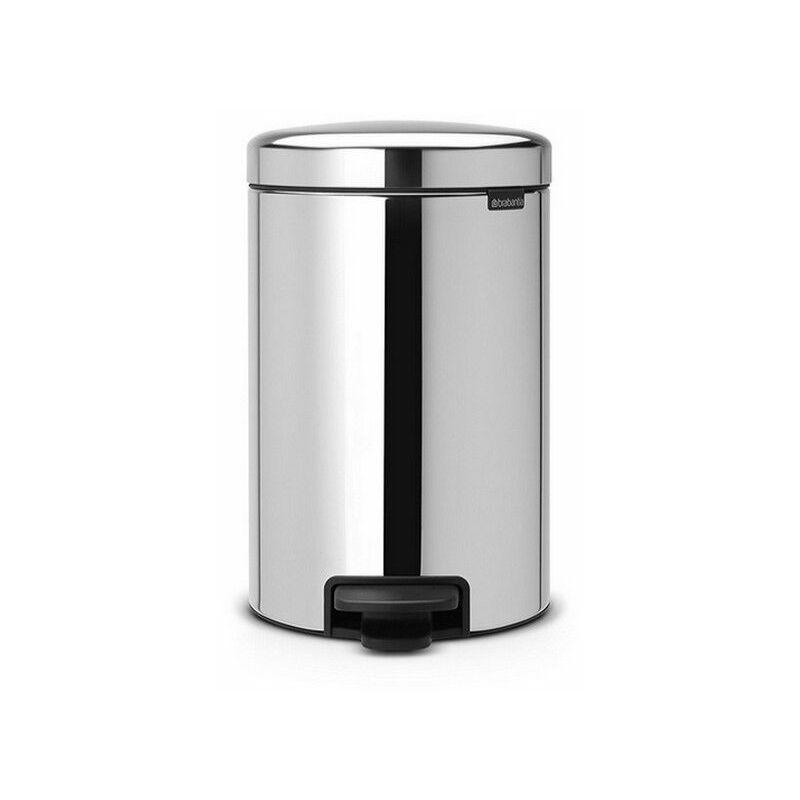 poubelle à pédale 30l brillant steel - 113888 - brabantia
