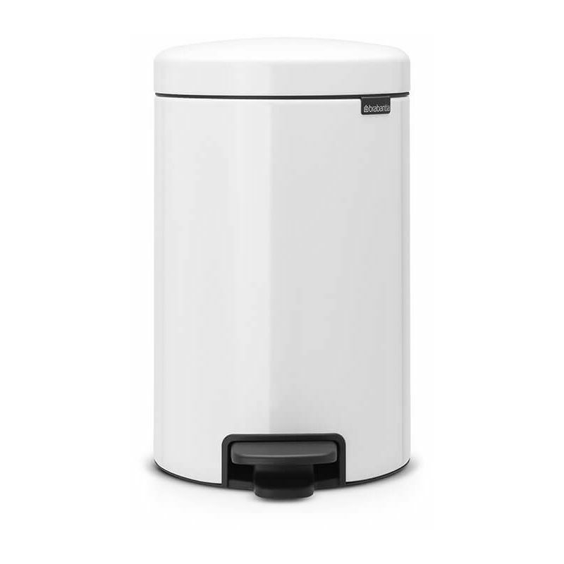poubelle à pédale 12l blanc - 113864 - Brabantia