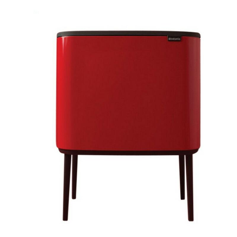 poubelle 2 seaux 11+23l rouge - 316104 - Brabantia