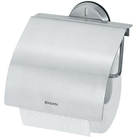 Brabantia Profile Toilettenpapierhalter, Klopapierhalter, Matt Edelstahl, 427626
