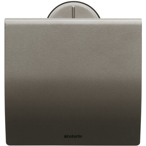Brabantia Toilettenpapierhalter, Klopapierhalter, Klorollenhalter, Edelstahl Platin, 483363