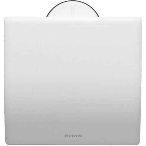 Brabantia Toilettenpapierhalter, Klopapierhalter, Klorollenhalter, Edelstahl Weiß, 483387
