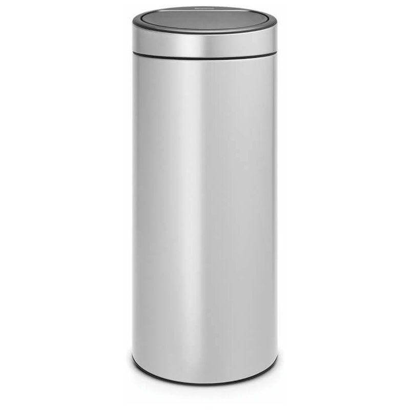 poubelle 30l metallic grey - 115387 - Brabantia