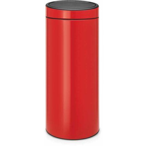 Brabantia Touch Bin New, 30 litres, seau intérieur plastique - Matt Steel Fingerprint Proof - 115462