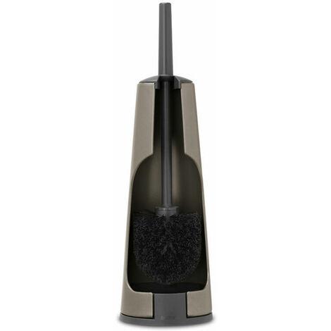 Brabantia WC Garnitur aus Metall mit Klobürste,Toilettenbürste, Platinum, 477324