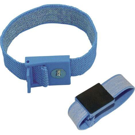 Bracelet antistatique (ESD) bleu clair BJZ C-198 1261 Bouton-pression 4 mm 1 pc(s)