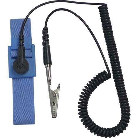 Bracelet antistatique (ESD) bleu clair, noir TRU COMPONENTS SD-AS D4 178756 Bouton-pression 9,52 mm (3/8) 1 pc(s)