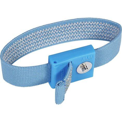 Bracelet antistatique (ESD) bleu clair Wolfgang Warmbier 2050.750.3 Bouton-pression 3 mm 1 pc(s)