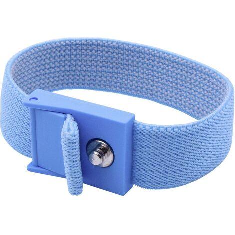 Bracelet antistatique (ESD) bleu Quadrios 1903EC033 Bouton-pression 4 mm 1 pc(s)