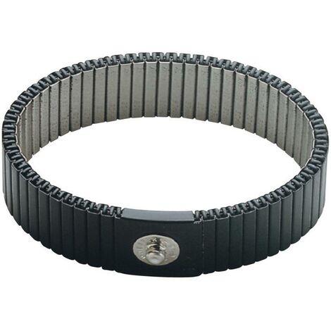 Bracelet antistatique (ESD) gris BJZ C-189 146 4,0 ELL Bouton-pression 4 mm 1 pc(s)