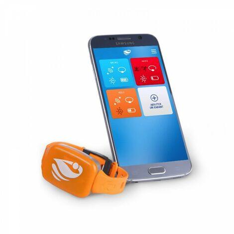 Bracelet de sécurité piscine No stress avec application smartphone Kit 1 - Orange