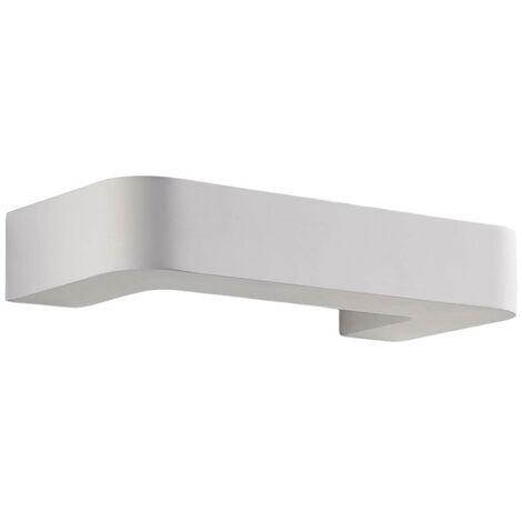 Bracket-shaped LED wall lamp Julika, white plaster