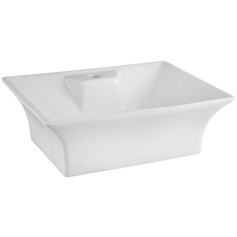 Braga 480mm x 380mm Rectangular Countertop Basin with 1 Tap Hole