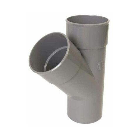 Braga simple NICOLL - 45° - Diámetro 100 - Macho hembra - 57101R