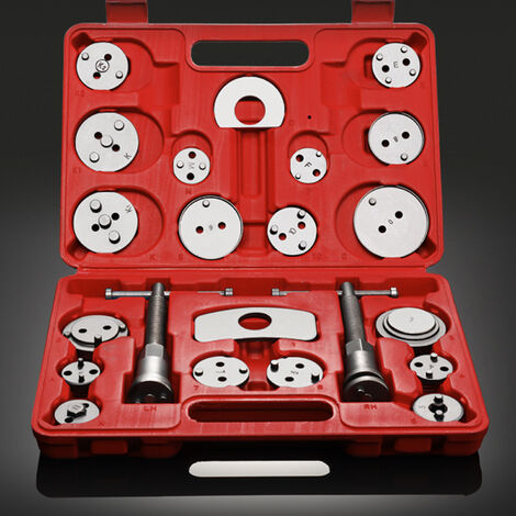 Brake Caliper Tool Set, Brake Repair Tool Kit, with Red case, 21 Parts, Material: C45 steel
