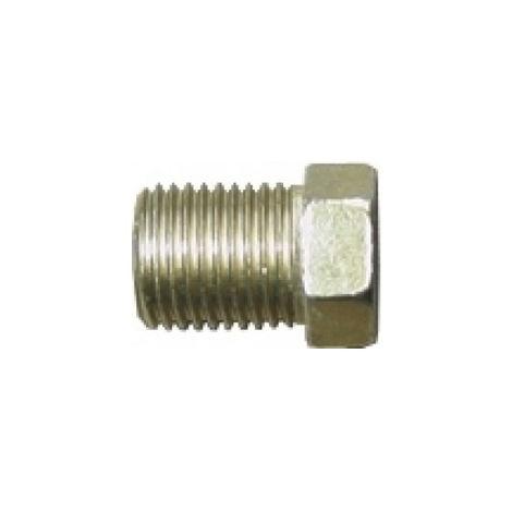 Brake Pipe Nut Fitting M10mm x 1mm Full Thread Male 2 Pack
