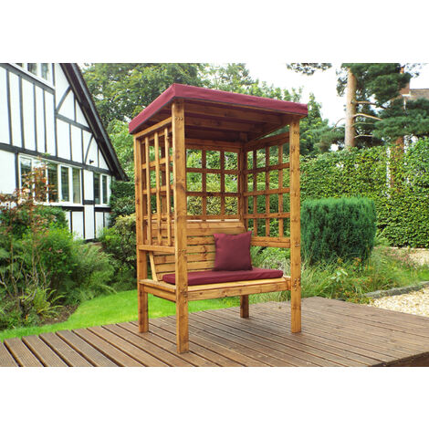 Bramham Two Seat Arbour Burgundy - Fully Assembled