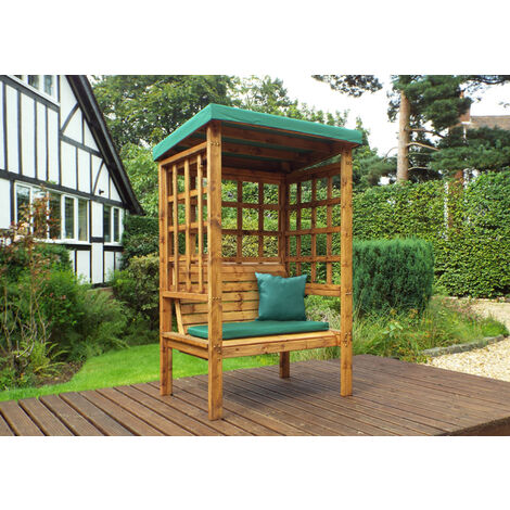 Bramham Two Seat Arbour Green - Fully Assembled