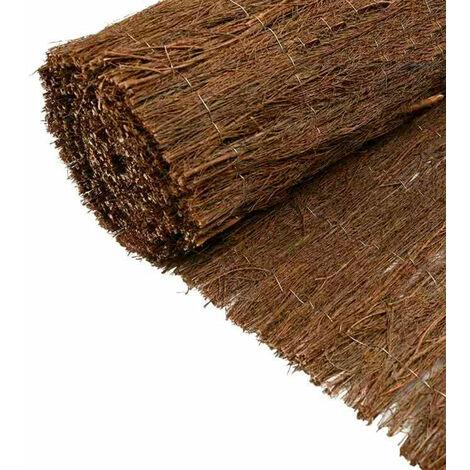 Brande de bruyère H1.5xL3 m brise vue marron