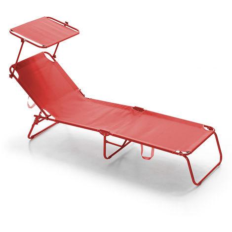 Brandina lettino con parasole pieghevole Lugano T Rossa - 8013106050376