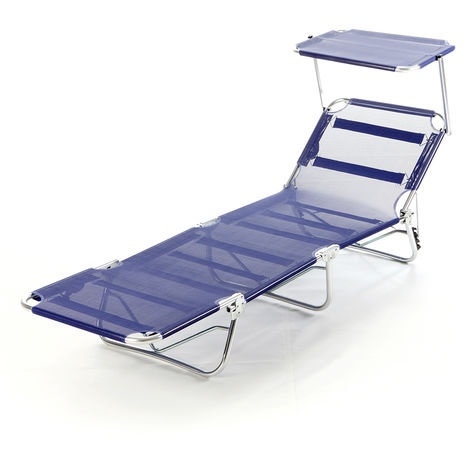 Lettino Pieghevole Alluminio.Brandina Lettino Tettuccio Richiudibile Alluminio Pieghevole Mare Spiaggia Capri
