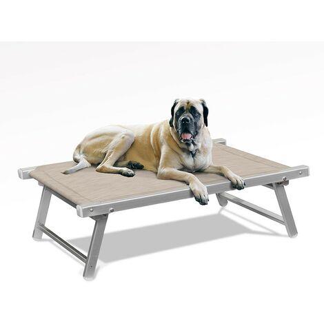 Brandina per cani lettino spiaggia mare in alluminio animali DOGGY