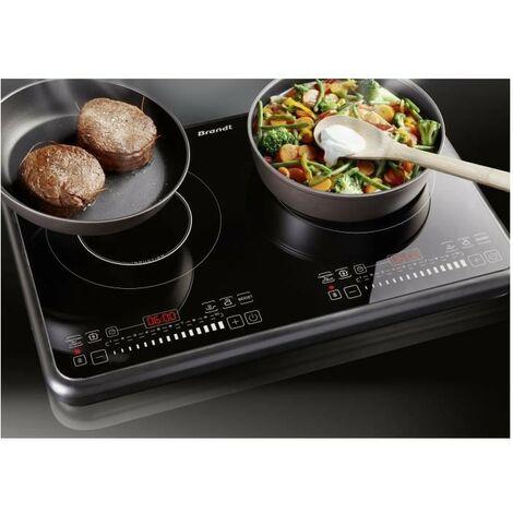 """main image of """"BRANDT TI2FSOFT Table de cuisson posable 2 foyers a induction Noir"""""""