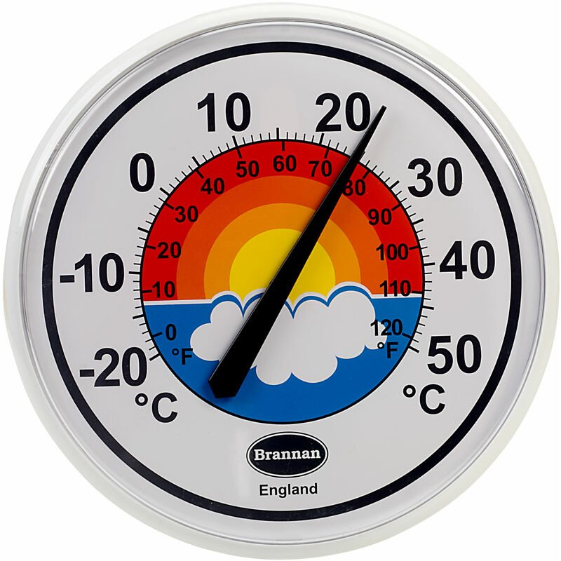 Image of Brannan 300mm Rainbow Dial Thermometer