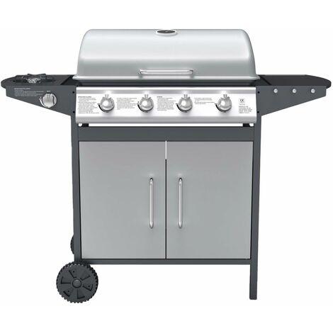 BRANSON - Barbecue à gaz 4 brûleurs, plus brûleur latéral