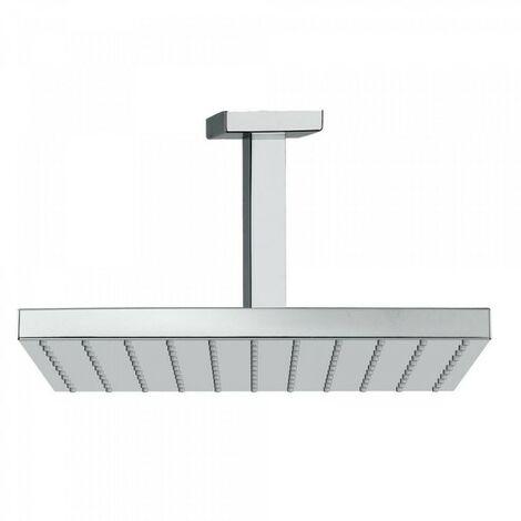 Bras de douche plafond avec pommeau 250x250mm Chromé - TRES 03412102