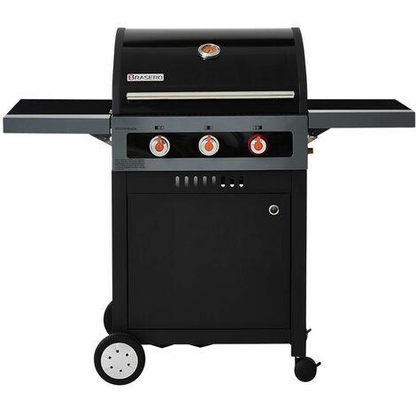 BRASERO - Barbecue Boston Black 3K Turbo - 3 brûleurs dont 1 Turbo Zone - 11,2 kW
