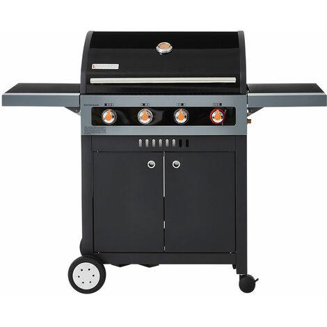 BRASERO- Barbecue Boston Black 4K Turbo - 4 brûleurs dont 1 Turbo Zone - 14,7 kW