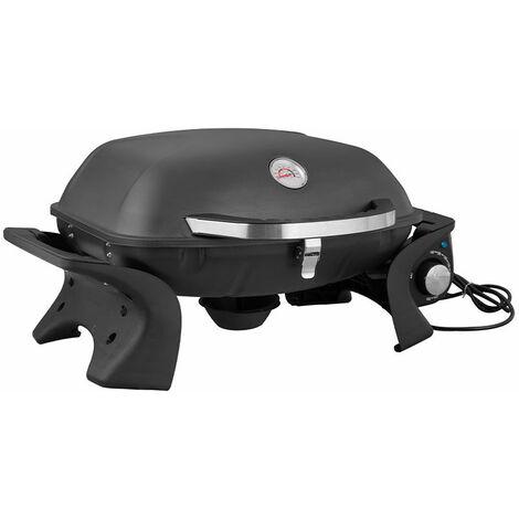 Brasero - Barbecue électrique portable City- 2200 watts - Jusqu'à 8 Convives - Grilles en acier émaillé - Usage extérieur et intérieur