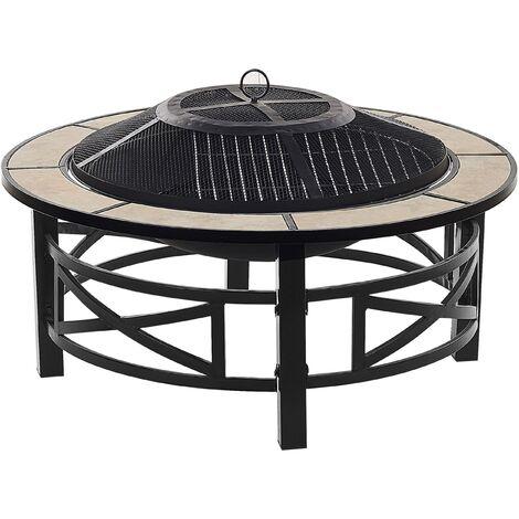 Braséro barbecue en acier noir et céramique HIERRO