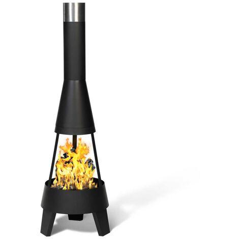 Braséro CAPRI noir foyer ouvert cheminée de terrasse