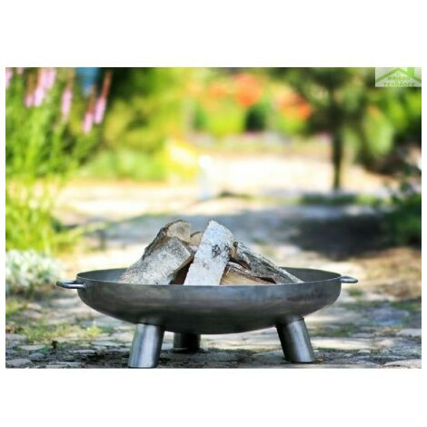 Brasero de jardin BALI en acier - Avec couvercle - Avec couvercle
