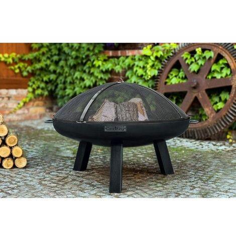 Brasero de jardin POLO en acier - Avec couvercle - Avec couvercle