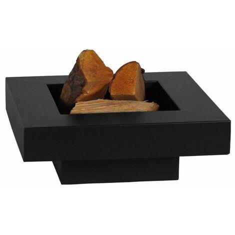 Brasero en acier peint plateau design 60 cm - Noir