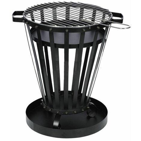 Brasero exterior de leña o carbón vegetal con parrilla de barbacoa EFP6