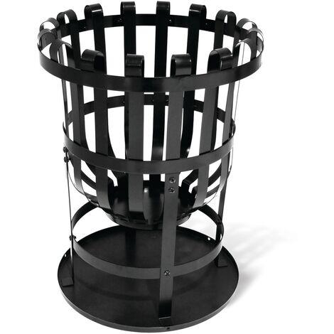 "main image of ""Brasero o estufa de leña de exterior - 'BBQ & Friends Soccora', Central Park - 40cm x 46cm - Acero - Negro - Zwart"""