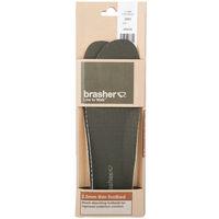 Brasher 2.5mm Thin Shock Absorbing Shoe Insoles - Green - Size 6