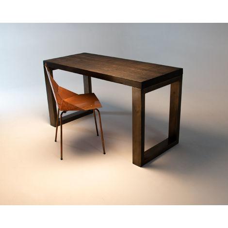 Brass and Boxcar Slab Desk 140cm x 60cm