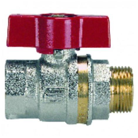 Brass ball valve MF aluminium lever 15x21 - EFFEBI SPA : 0825R404