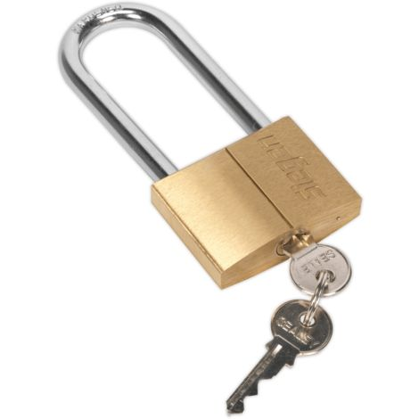 Brass Body Padlock with Brass Cylinder Long Shackle 60mm
