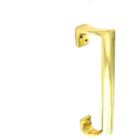 """main image of """"Brass Door Oval Pull Handle 225mm"""""""