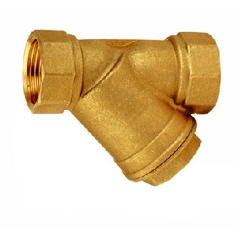 """main image of """"Brass Inline 0,5mm Mechanical Water Filter Washer 1 inch FxF Dirt Removal"""""""