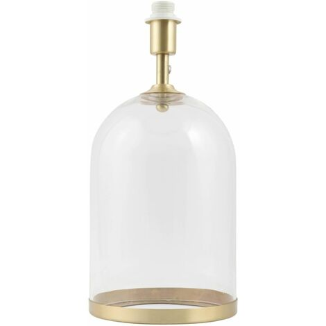 Brass or Chrome Glass Cloche Table Lamp Base Bedside Table Lights